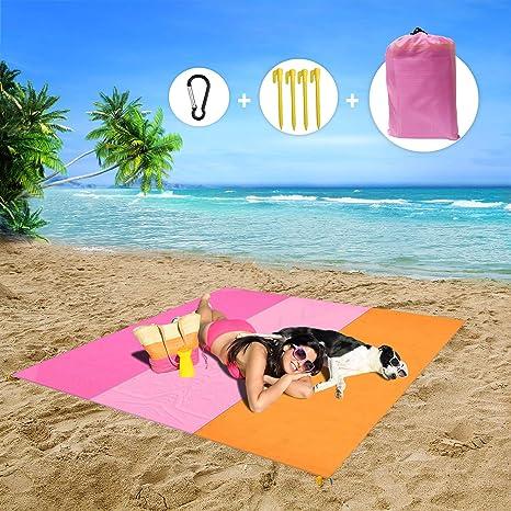 MMTX Impermeable Alfombras de Playa, Portáti lLigera Manta Picnic Manta Playa Toalla Playa Actividad Camping Accesorios Aplicar Picnic Campaña Jardín ...