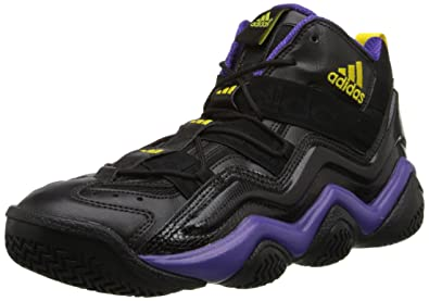 pretty nice 6c0f3 0ef1f Mens Adidas Top 2000 Basketball Shoes  quot Lakers quot  Black   Purple    Gold G56095