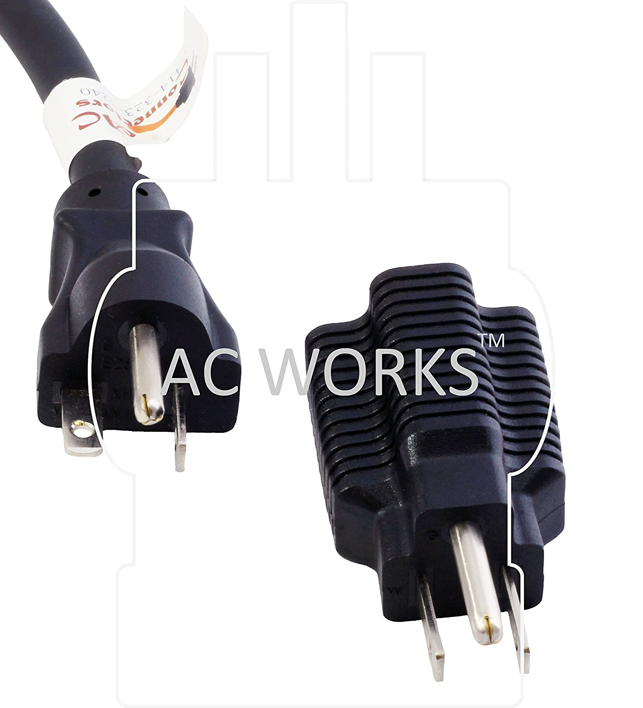 1PK-UL Cert. Flexible AC WORKS 15 to 20Amp 125Volt T-Blade Adapter