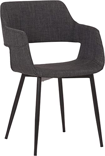 Armen Living Ariana Mid-Century Fabric Dining Room Accent Chair