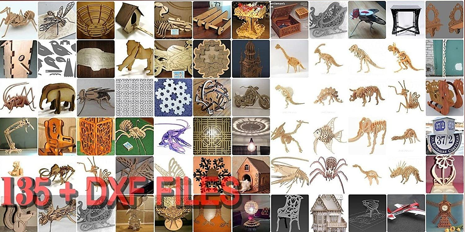 3D puzzle DXF files for CNC ROUTER & LASER CUTTING +135 pcs: Amazon