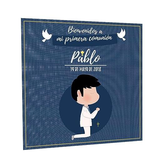 Photocall Comunión para niño Personalizado | Decoración de ...