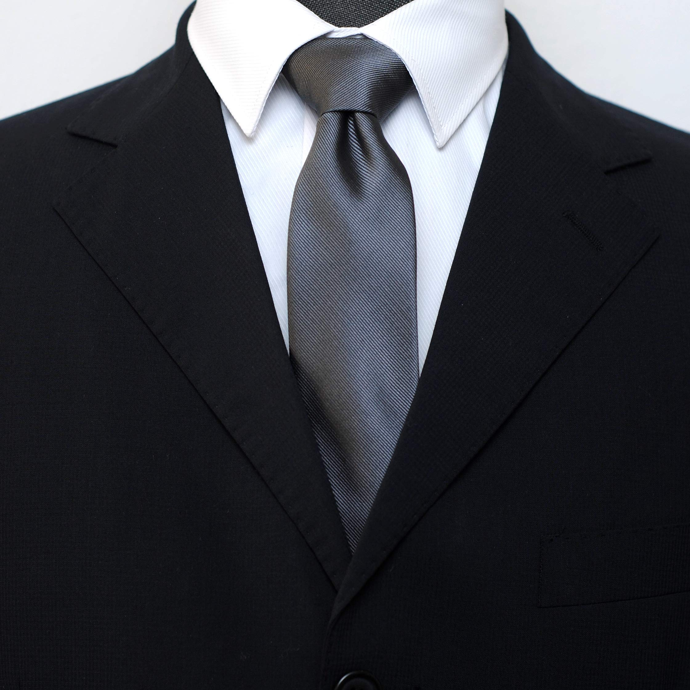 Skinny Solid Color Neckties Wedding Ties for Groomsmen 5 Pack ST518 by ZENXUS (Image #3)