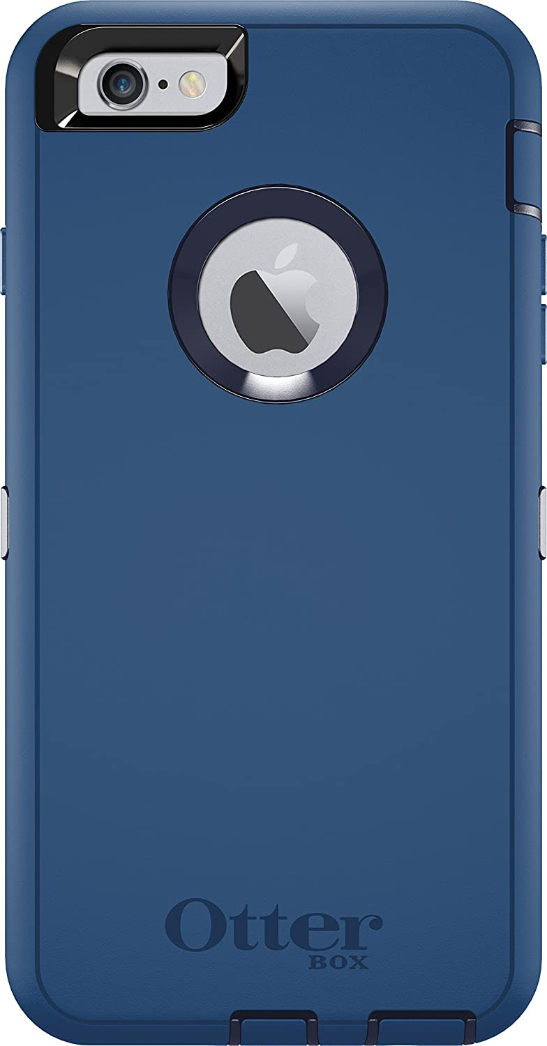 OtterBox Defender Series Case for iPhone 6s Plus & iPhone 6 Plus (ONLY) - (Case Only - Holster Not Included) Non-Retail Packaging - Water Blue/Admiral Blue