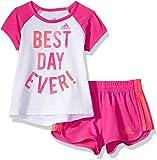 Adidas - Juego de Playera y pantalón Corto para niña