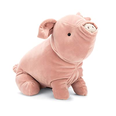 Jellycat Mellow Mallow Pig Stuffed Animal, 15 inches: Toys & Games