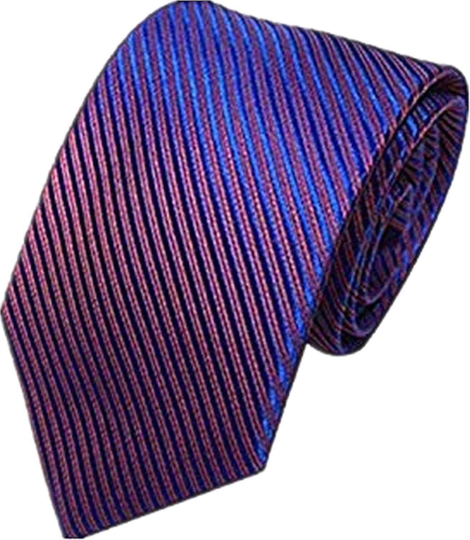 Unisex Novelty Men's Striped Plaid Dress Hand Tie Classic Jacquard Woven Necktie Tie Party Wedding Formal Business Tie