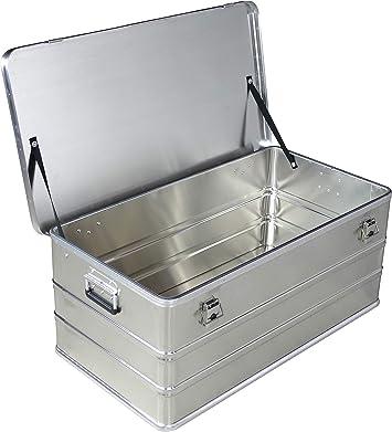 Caja de aluminio de 140 litros de capacidad, caja de almacenamiento, caja de metal, caja de almacenamiento, caja industrial, caja de aluminio: Amazon.es: Bricolaje y herramientas