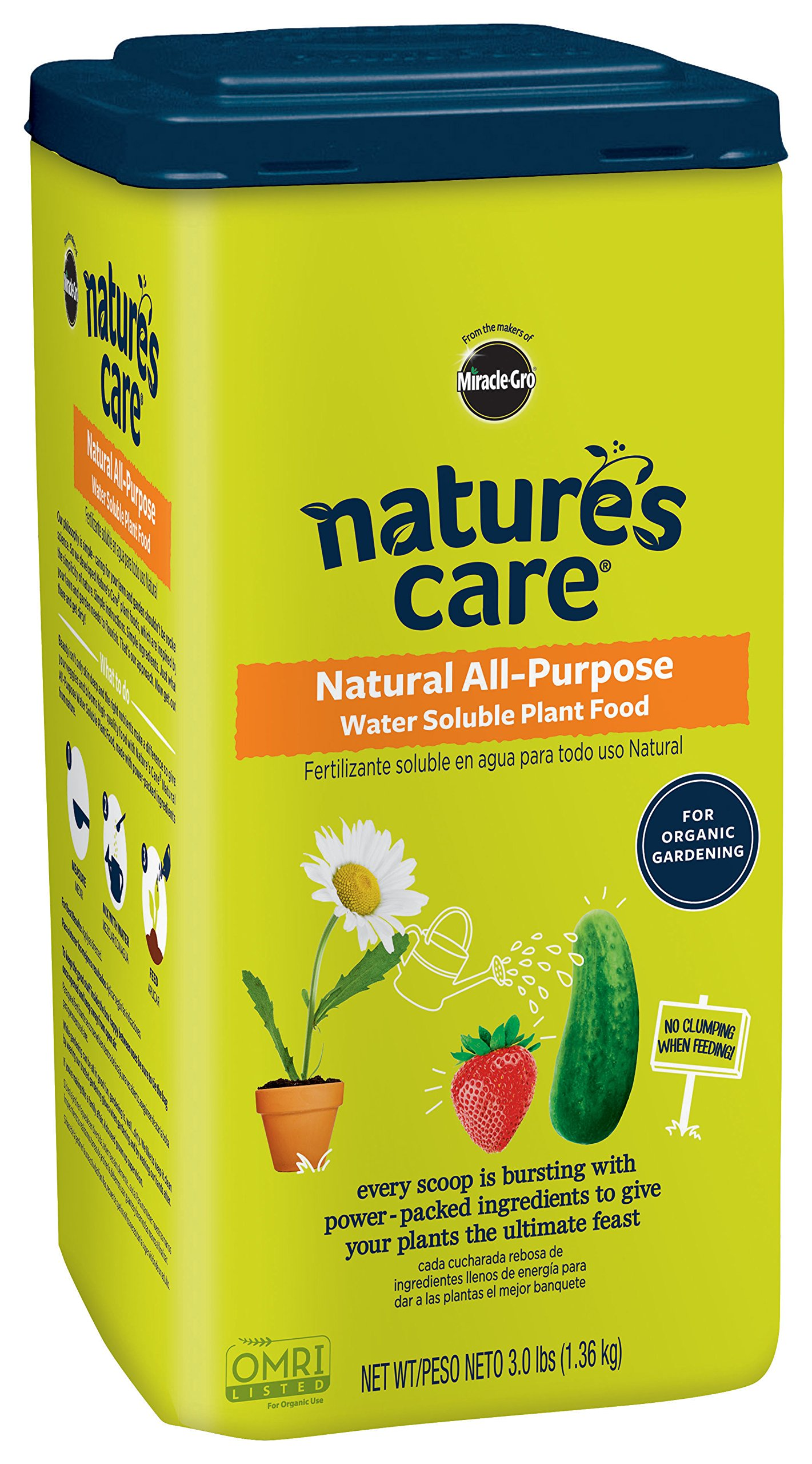 Nature's Care Miracle-GRO Organic & Natural Water Soluble Plant Food 3 LB