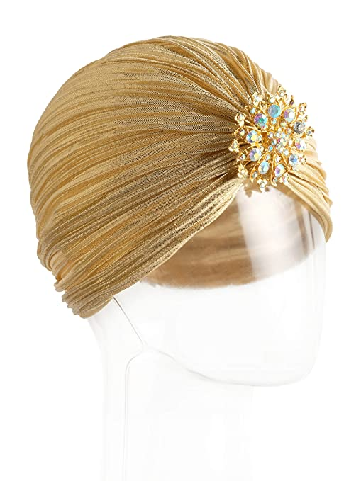 Simple 1920s Hat Decorating with Ribbon Vintage 20s 30s 50s Twist Pleated Velvet Knotted Stretch Turban Hat Head Wrap $10.99 AT vintagedancer.com