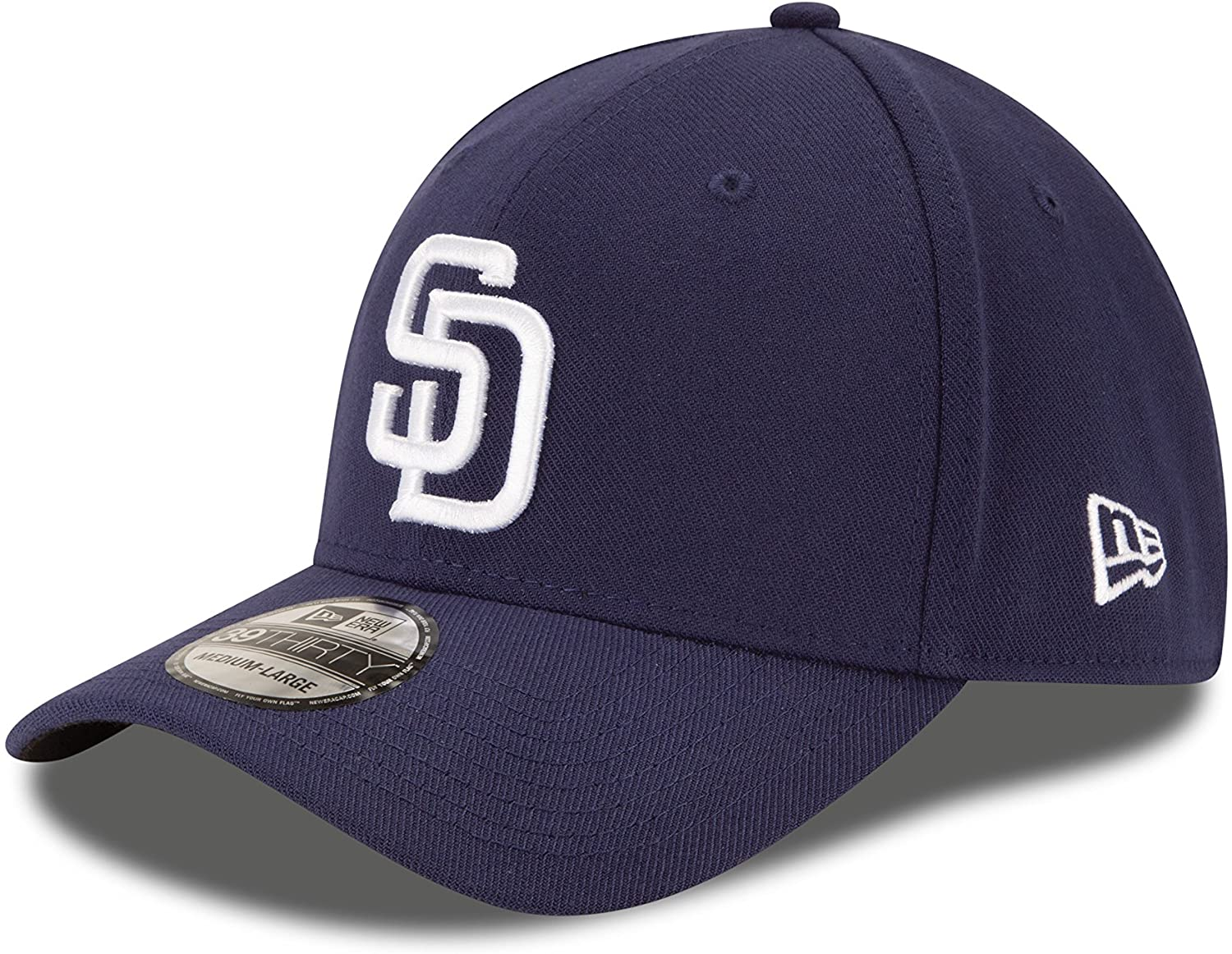 Blue New Era MLB San Diego Padres Team Classic Game 39Thirty Stretch Fit Cap
