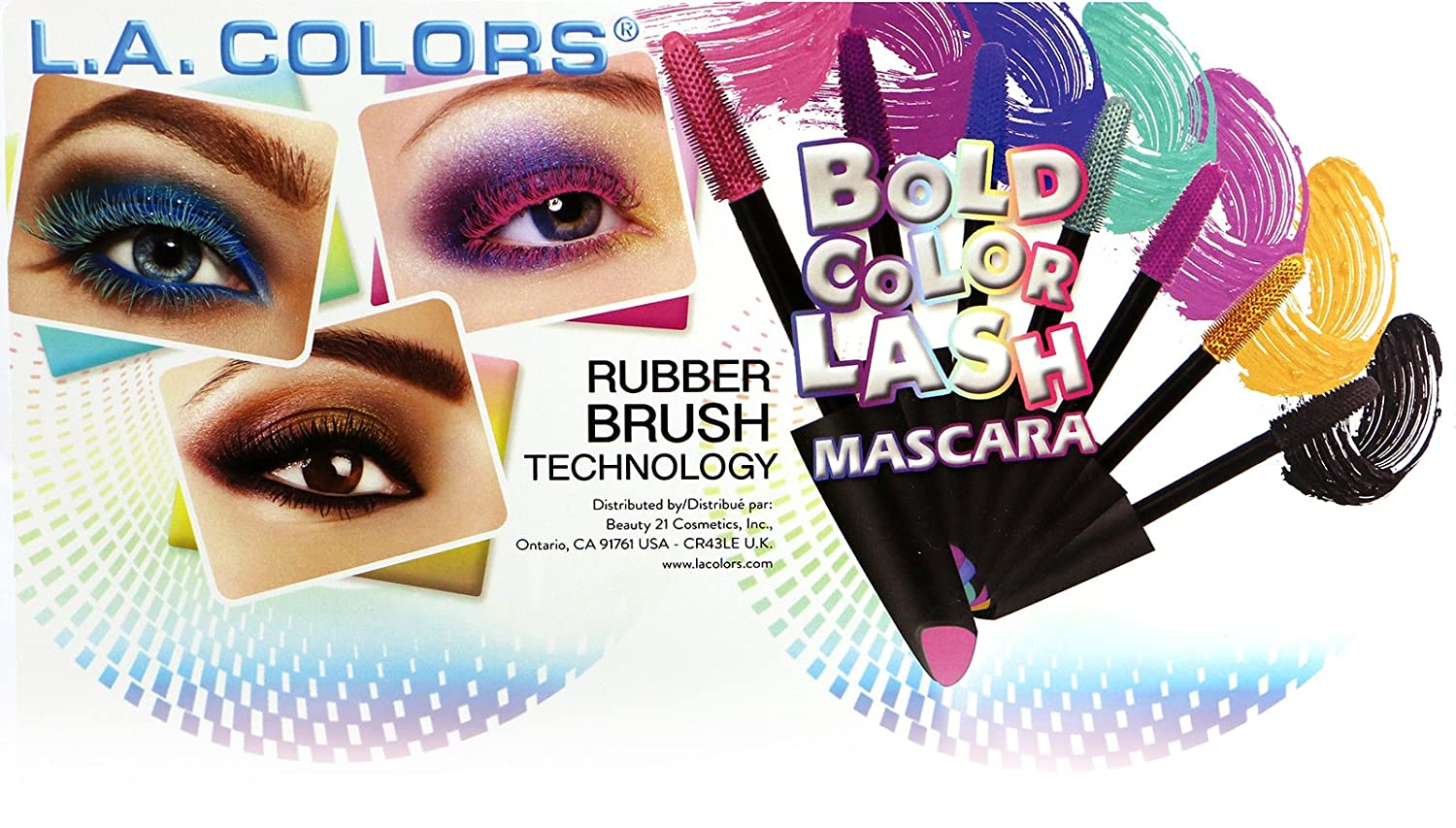 Amazon.com : L.A. COLORS Premium 12 Bold Color Lash Mascara Set of 12 Shades : Beauty