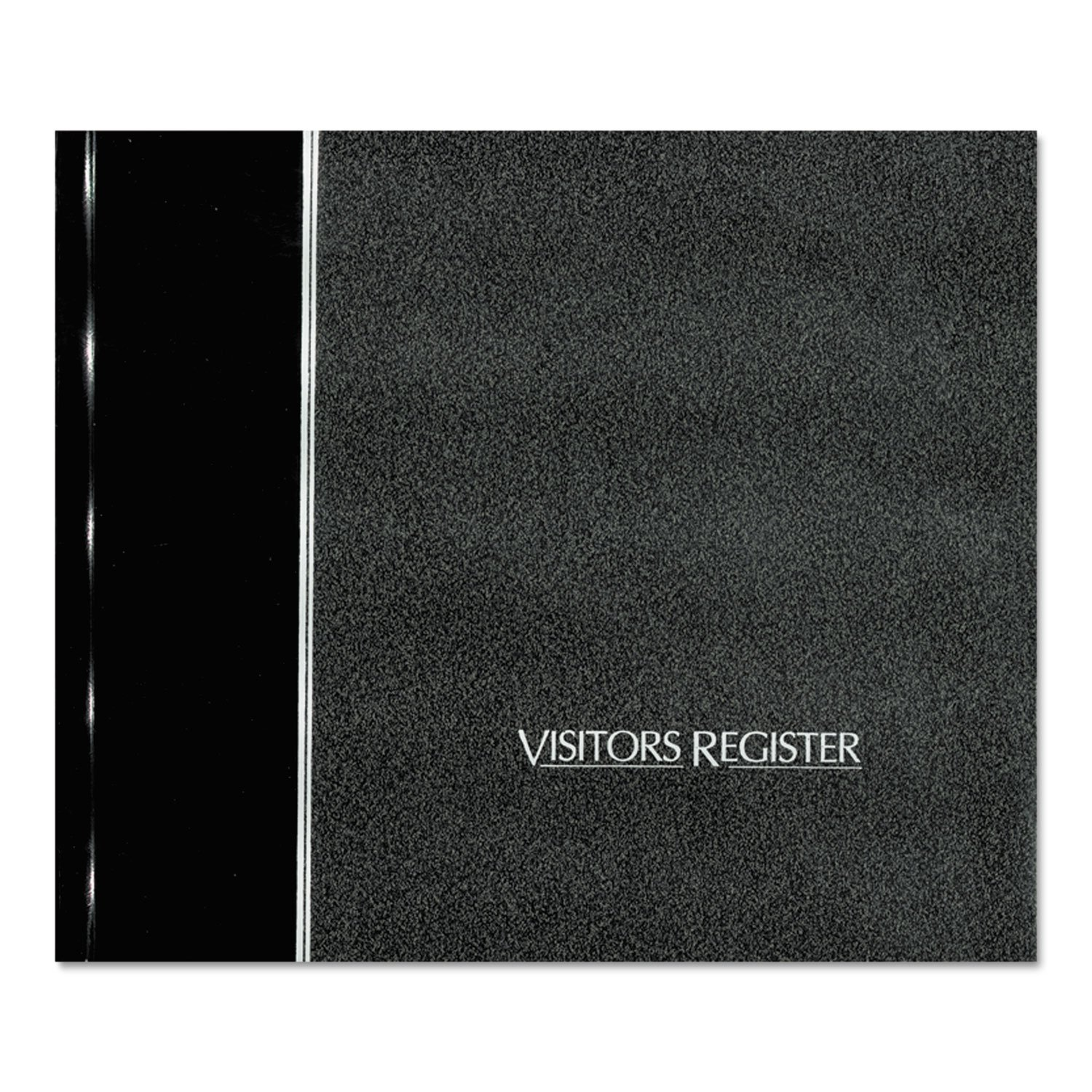 National® Brand Visitor Register Book, Black Hardcover, 128 Pages, 8 1/2 x 9 7/8
