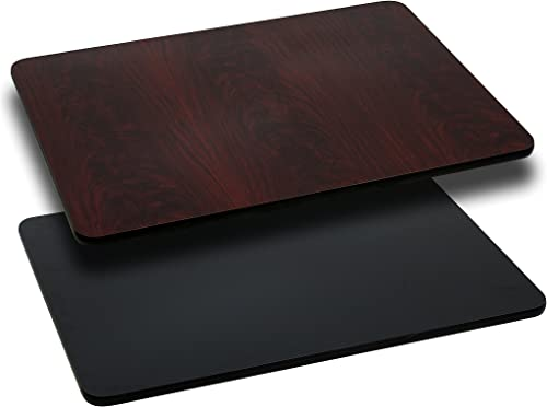 Flash Furniture 24 x 42 Rectangular Table Top with Black or Mahogany Reversible Laminate Top