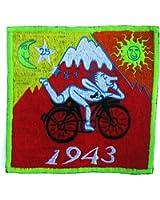 imzauber Forêt Hofmann Bicycle Day Rouge Badges (8,5cm patch, noir lumière actif) LSD Goa Trance Psychédélique Acid Trip Patch