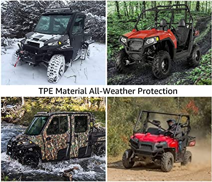 A/&UTV PRO Floor Liners All Weather Protection for Polaris General 1000 2016-2020 Polaris General 1000 Accessories TPE Material UTV Front Floor Mats
