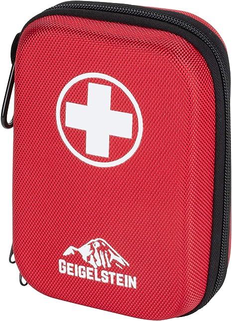 GEIGELSTEIN Botiquín de Primeros Auxilios Compact, Made in Germany, con Pinzas de Acero Inoxidable: Amazon.es: Deportes y aire libre