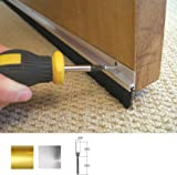 Stormguard 02SR0190838A 838mm Bottom of The Door Brush Strip Draught Excluder - Aluminium