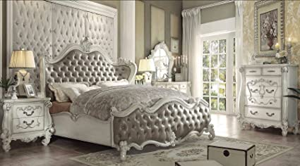 Exceptionnel ACME Versailles Bedroom Set With Queen Bed, Nightstand, Dresser And Mirror