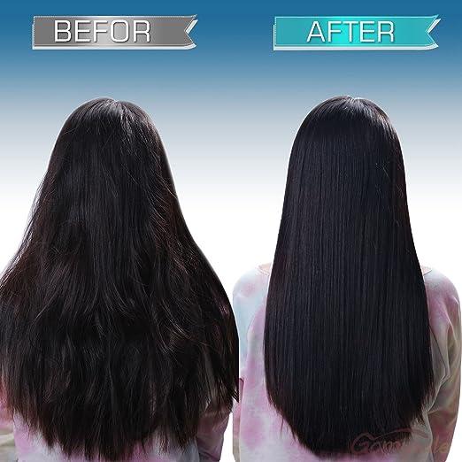 GHB Cepillo Eléctrico Alisador de Pelo Plancha de pelo Peines Profesional Anión LED Pantalla Antiestát Hair Straightener-Rosa: Amazon.es: Belleza