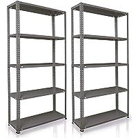 NAWA Home & Work Estantes de almacenamiento, pack de 2 estanterías para el sótano/estantería para taller/estantería para…