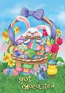 Briarwood Lane Got Chocolate Easter Garden Flag Bunny Humor 12.5