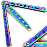 Bokhammer Rainbow Butterfly Balisong Trainer Übung Messer