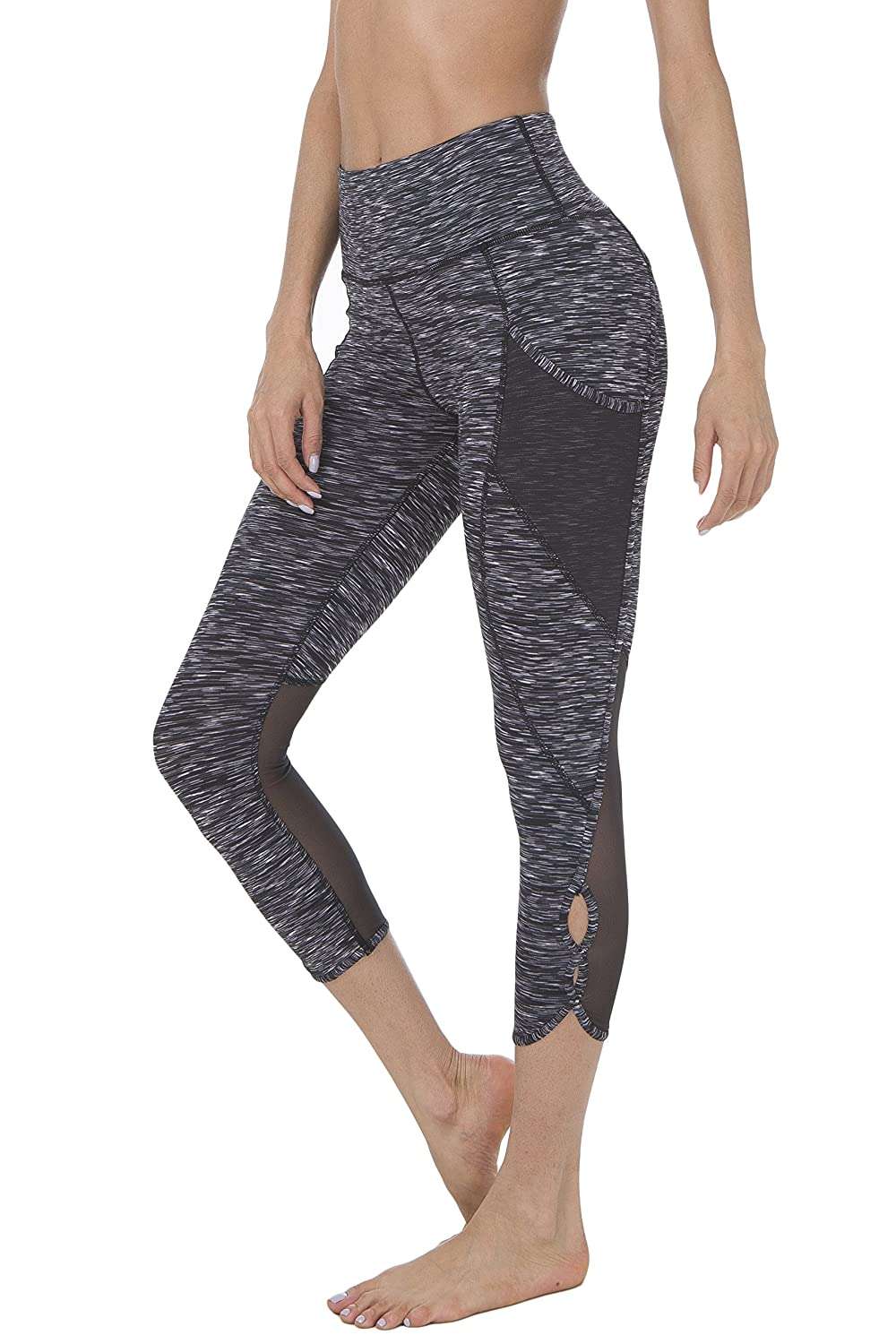 ecb4bb7914 SOLID:86% Nylon 14% Spandex, SPACE DYE: 87% Polyester 13% Spandex Imported  The High Waist Tummy Control Power Flex Leggings by Queenie Ke are the  affordable ...