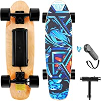 WOOKRAYS Electric Skateboard with Wireless Remote Control, 350W, Max 12.4 MPH, 7 Layers Maple E-Skateboard, 3 Speed…