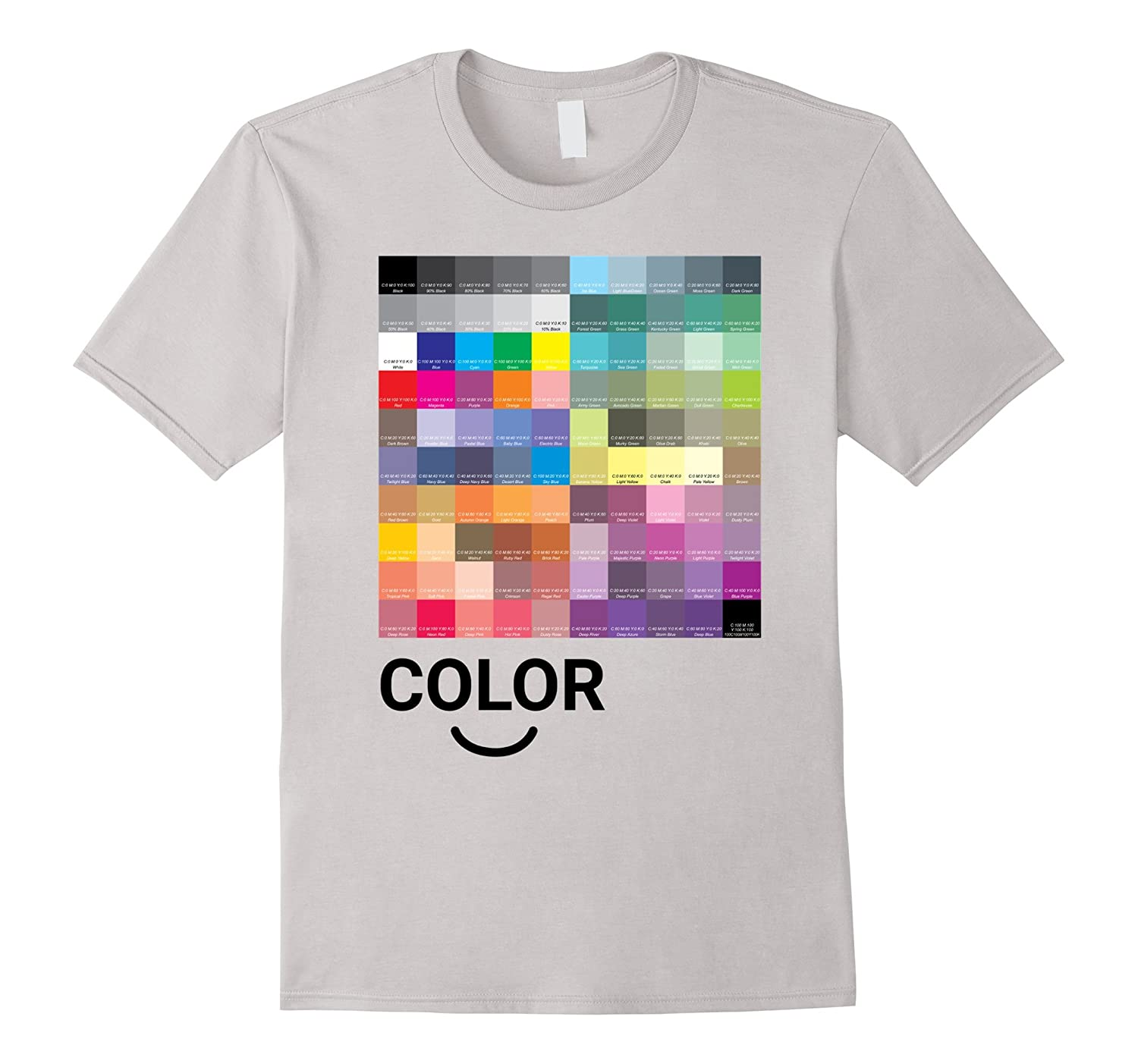 I Love Color Artsy Graphic Design Tee T-Shirt-RT