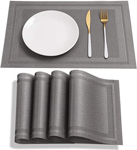 Medium Silver Chequered Mirrored Placemat