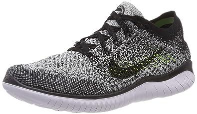 591dbfa285ac Nike Free Rn Flyknit 2018 Mens 942838-101 Size 6 White Black