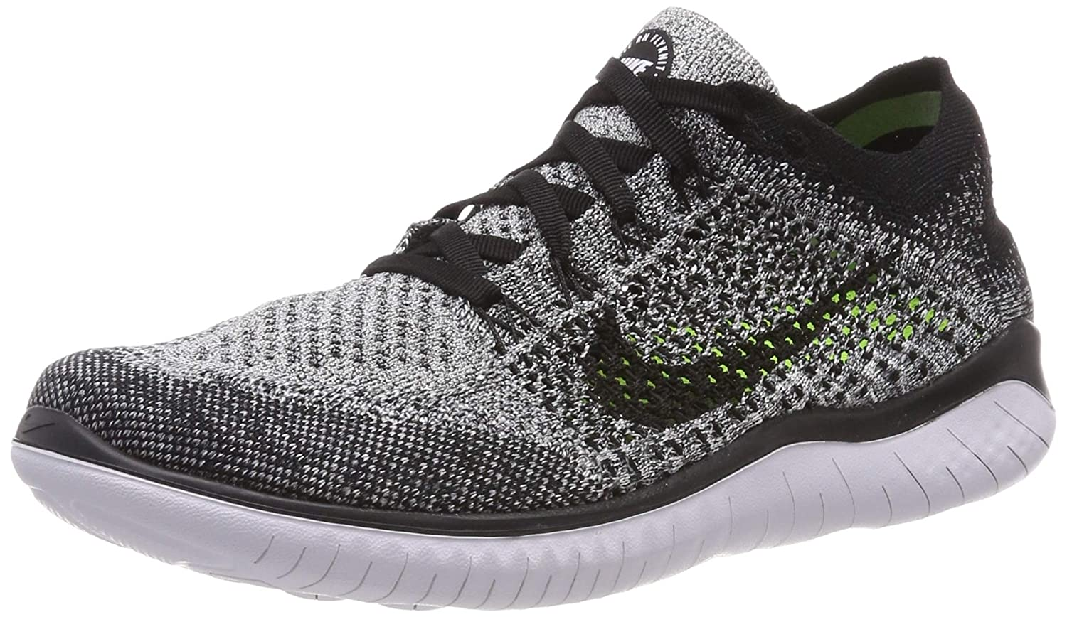 adbdad7c48 Nike Men's Free RN Flyknit 2018 Running Shoes (12, Black/White/Black)