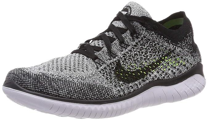 new concept 67848 4f743 Nike Men's Free RN Flyknit 2018 Running Shoes (12, Black/White/Black)