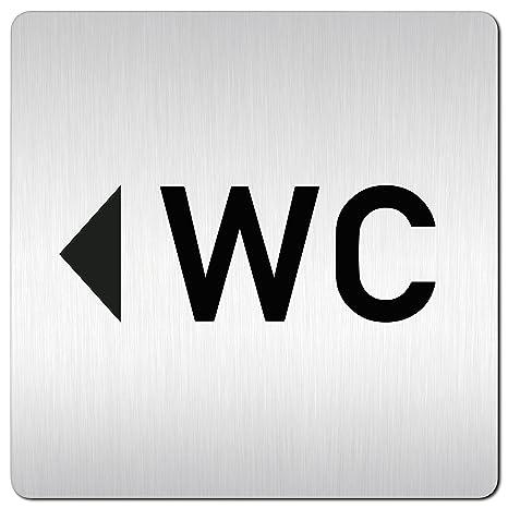 Xxl Wc Schild Porta Scudo Cartello Wc Freccia Sinistra Da 1 5