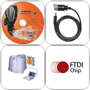 Amazon com: for Yamaha Boat Marine Diagnostic USB Cable Kit