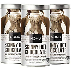 NOMU Skinny 60% Cocoa Hot Chocolate (3-Pack) | Only 20 Calories, High Protein, Low GI, Low Sugar (33 servings each) …