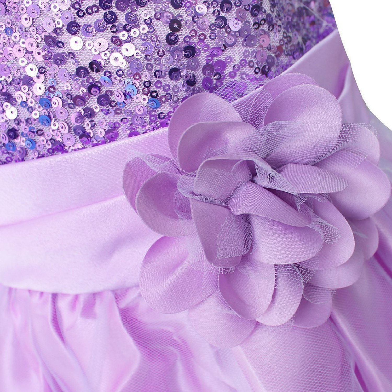 0dec55914bf80 Amazon.co.jp: GoGokids お姫様 子供 女の子 キッズドレス マイヤ パーティー ピアノ 発表会 フォーマルドレス 女の子  スパンコール (160cm