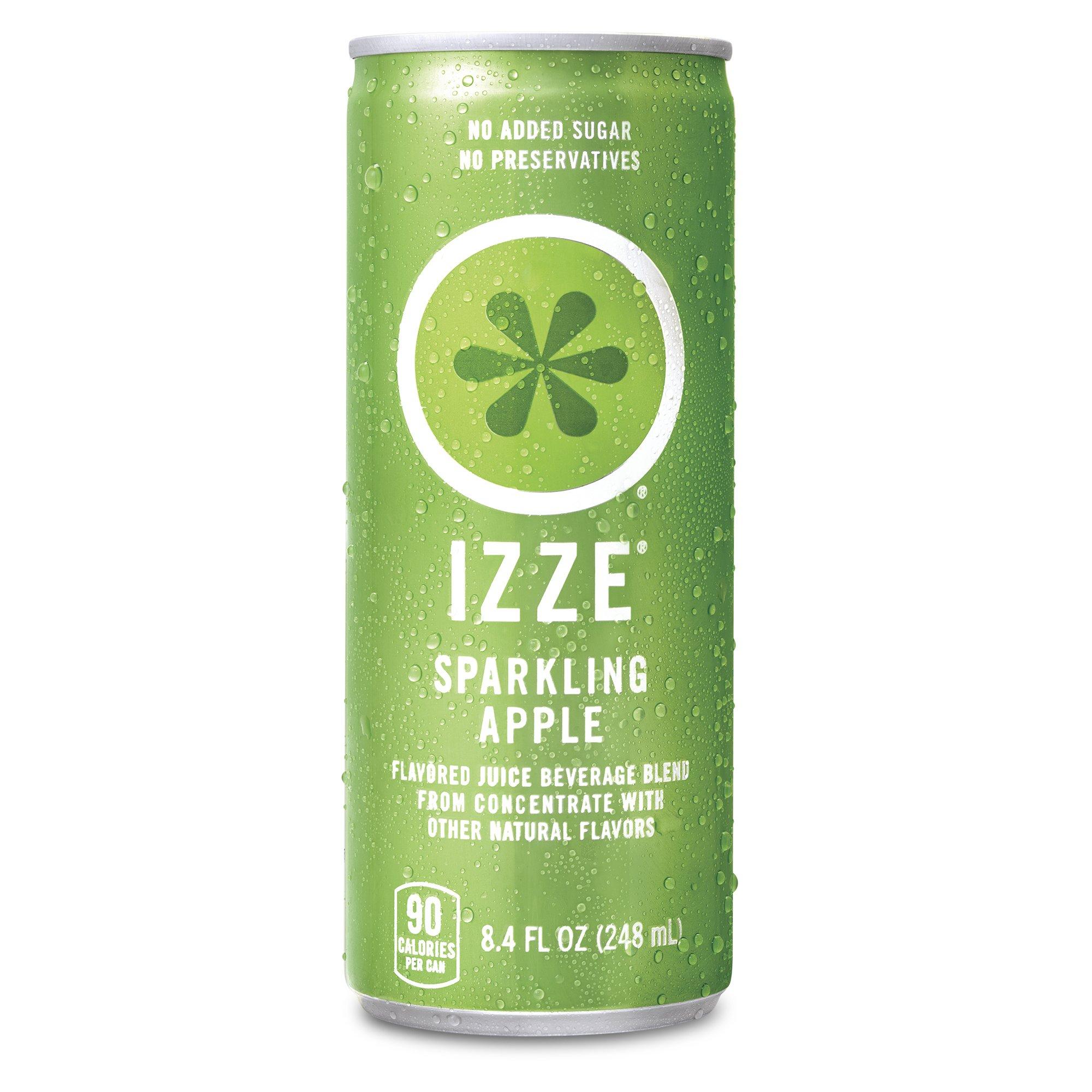 IZZE Sparkling Juice, Apple, 8.4 oz Cans, 24 Count