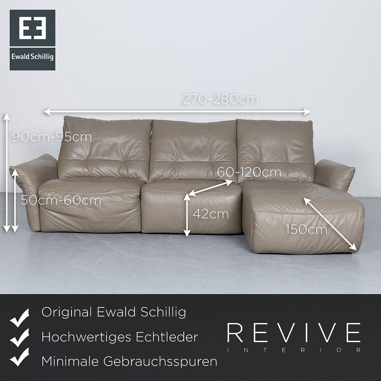 Wunderschön Sofa 150 Cm Das Beste Von Conceptreview: Ewald Schillig Designer Leder Ecksofa Grau