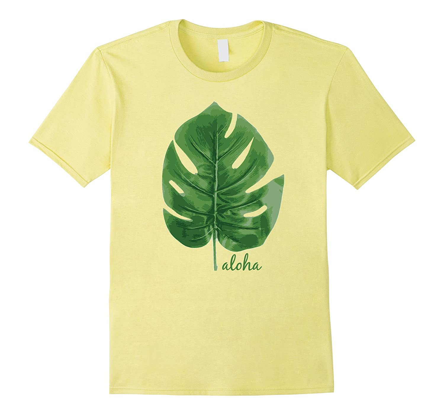 Aloha Leaf Cute Graphic Hawaiian Souvenir T-Shirt-T-Shirt