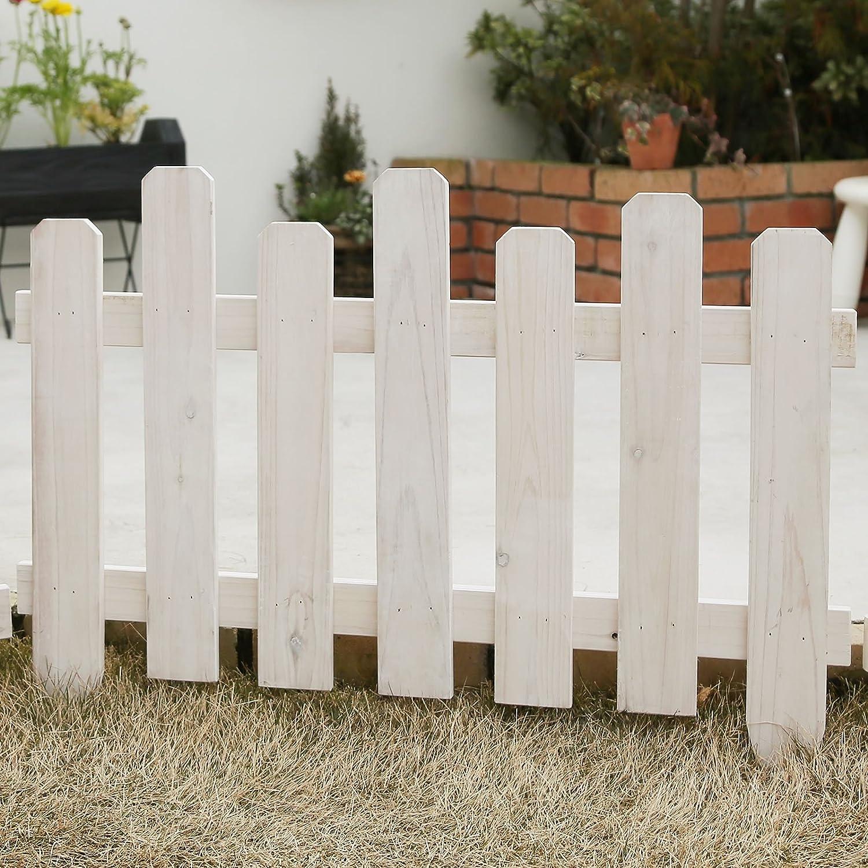 天然木製 花壇フェンス ボーダーフェンス ピケスティック 1枚 ウォッシュホワイト 幅77cm×高さ60cm JSBF-7760WHT B00HE7RW08 10000 ウォッシュホワイト(1枚) ウォッシュホワイト(1枚)