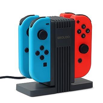Amazon.com: Quad Charging Dock for Nintendo Switch joy-con + ...