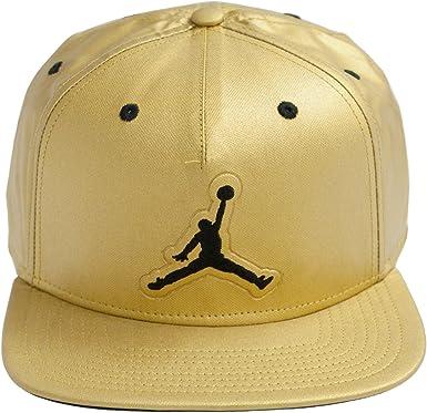 Nike Jordan 5 Snapback Gorra, Hombre, Dorado (Metallic Gold/Black ...