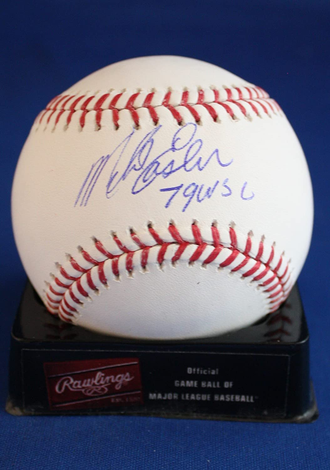 Autographed Mike Easler '79 WSC' Rawlings Official Major League Baseball COA
