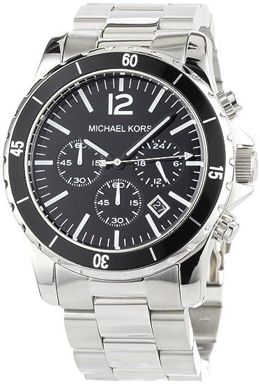 Michael Kors MK8140 - Reloj cronógrafo de cuarzo para hombre, correa de acero inoxidable chapado