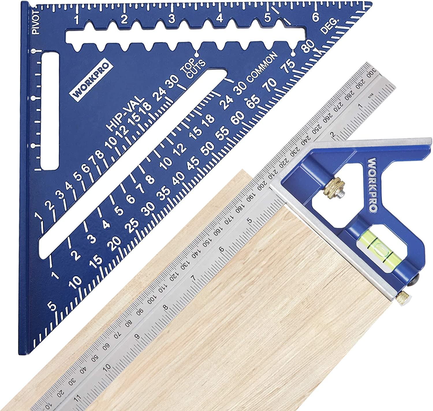 Workpro Rafter Square and Combination Square Tool Set