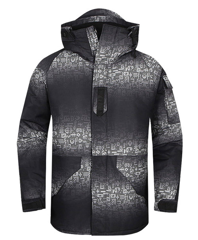 Southplay Herren Camouflage mit Kapuze wasserdichte Winter Snowboard-Süden TWOTONE