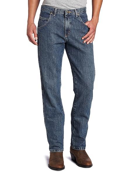 Wrangler Menu0027s Wrangler Rugged Wear Regular Straight Fit Jean,Blue,34x32