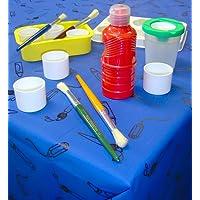 Blue Plastic Tablecover / Splashmat
